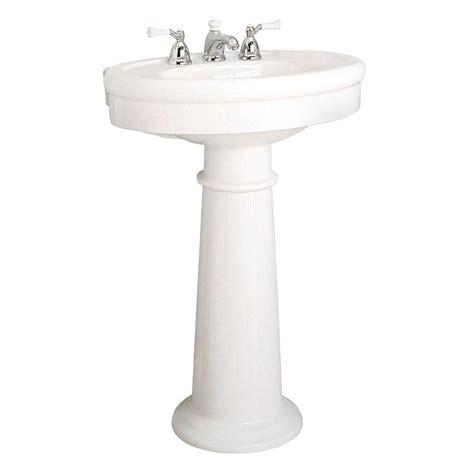 american standard pedestal sink american standard standard collection pedestal combo bathroom sink in white 0283 800 020 the