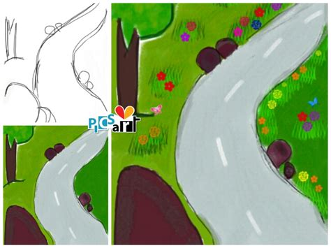 tutorial make cartoon with picsart picsart user tutorials from the footpath drawing challenge