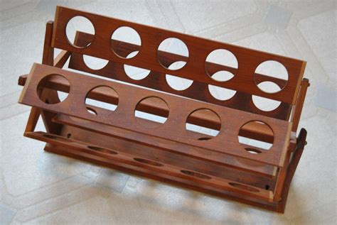 Rotating Spice Rack Vtg Mid Century Teak 25 Bottle Rotating Spice Rack