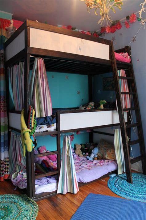 bunk beds 3 high a sky high bunk for three bunk beds ikea kura