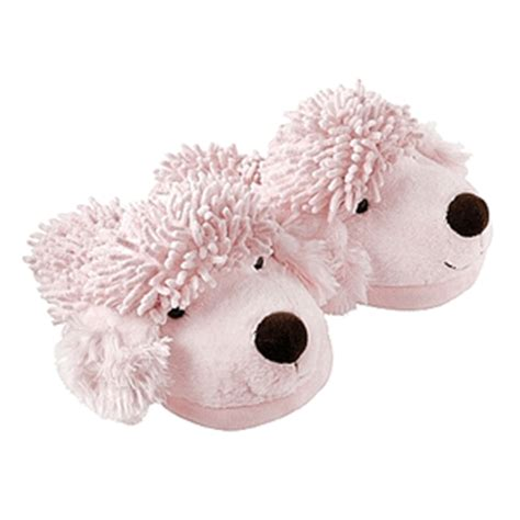 poodle slippers adults pink poodle fuzzy friends slippers