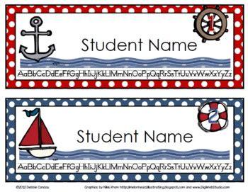 printable nautical name tags nautical name tags editable by sailing through 1st grade