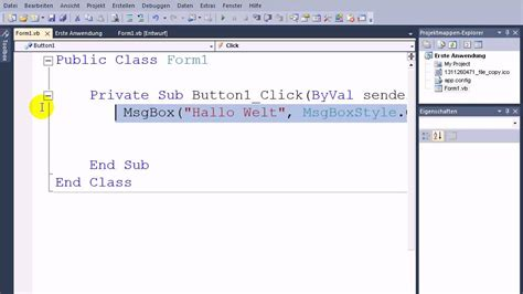 tutorial visual basic c visual basic 2010 tutorial die messagebox und ihre