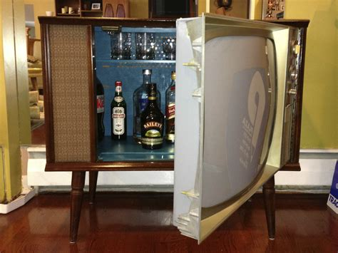 martini bar furniture vintage tv hidden cocktail bar liquor cabinet liquor
