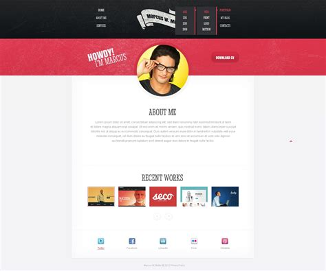 Designer Portfolio Responsive Website Template 41411 Portfolio Website Html Template