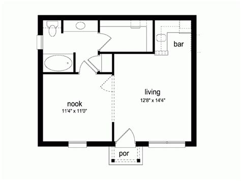 Simple One Bedroom House Plans by Eplans Cottage House Plan Cute Guest House 559 Square