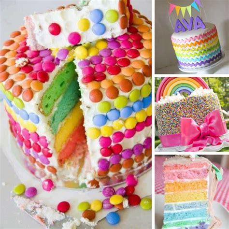 totally magical rainbow birthday cakes  girls  bright ideas