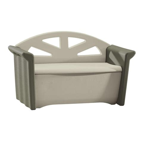 Banc Pour Patio by Rubbermaid Banc De Rangement Pour Patio Home Depot Canada