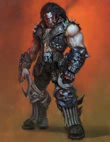 Lobo concept art in injustice gods among us