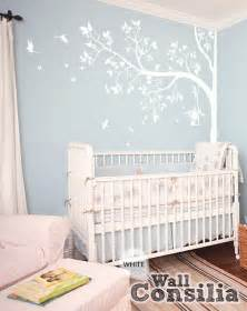 Nursery Decorations Wall Stickers tree wall decal nursery wall decor white tree wall mural sticker
