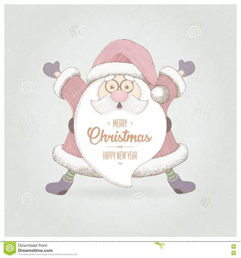 new year greeting gesture santa claus with a welcome gesture merry and
