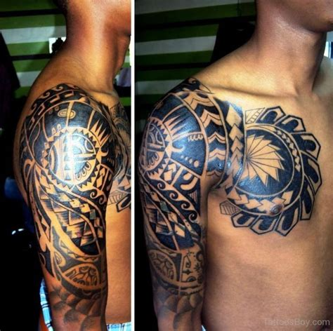 half chest tribal tattoo tribal tattoos designs pictures page 16