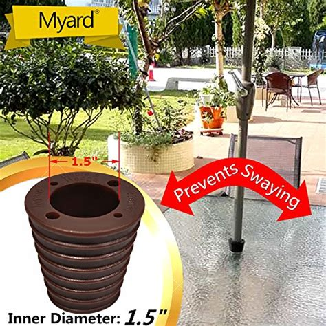 MYARD Umbrella Cone Wedge for Patio Table Hole Opening 1.8