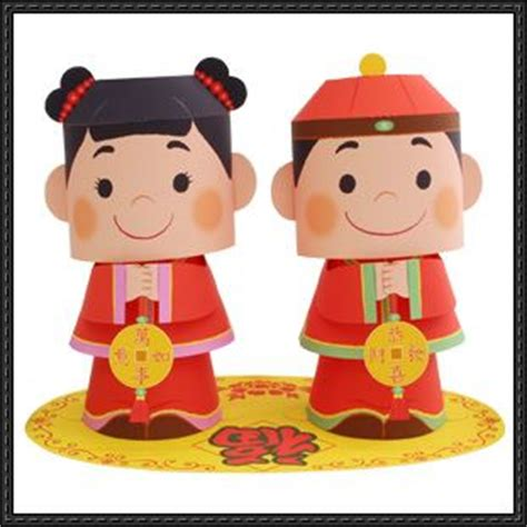 Canon Paper Crafts - canon papercraft wealth message doll free