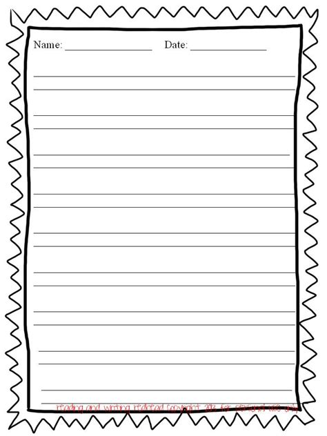 printable writing paper with border 7 best images of free printable lined writing paper