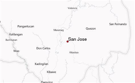 san jose philippines map san jose philippines northern mindanao location guide