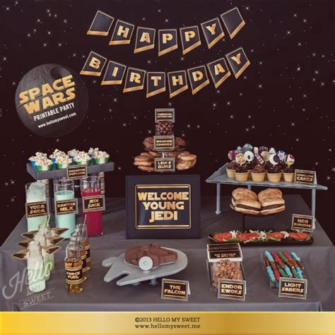 printable decorations star wars star wars party set instant download birthday party