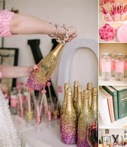 get together idea a sparkly pink and gold