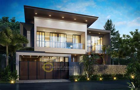 desain eksterior rumah tropis modern desain rumah mewah style modern tropis 2 lantai atau lebih