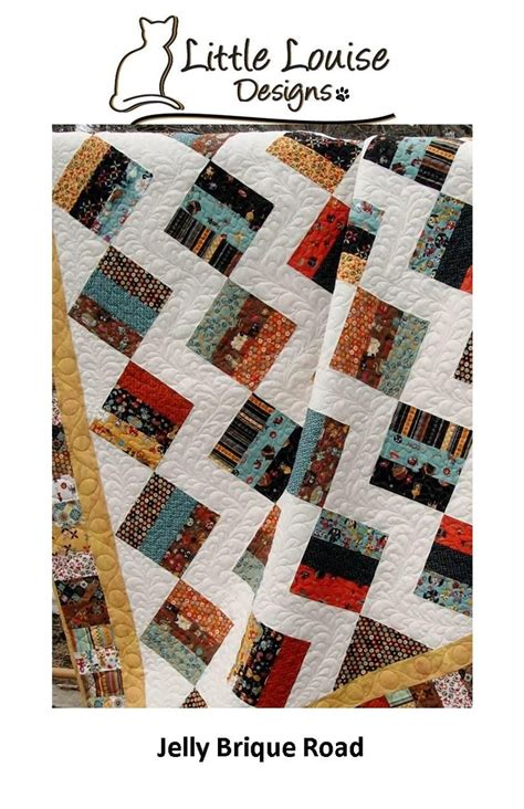 Easy King Size Quilt Patterns by Easy Jelly Brique Road Quilt Pattern Jelly Roll