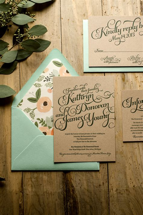 typography wedding invitations secret wedding
