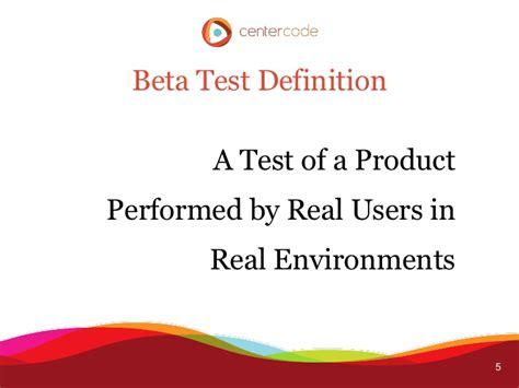 beta test successful beta testing