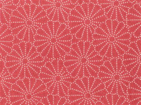 Japanese Pattern Cotton Fabric | japanese cotton kimono fabric red kiku stencil pattern