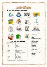 Kitchen Appliances Worksheet In The Kitchen 1 2 Kitchen Appliances Activities And