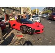 LaFerrari Crashes Into Row Of Parked Cars In Hungary