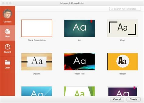 Interface Powerpoint 2016 For Mac Powerpoint Templates For Mac 2016
