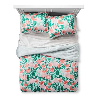 target coral bedding coral emerald painterly floral comforter set twin twin