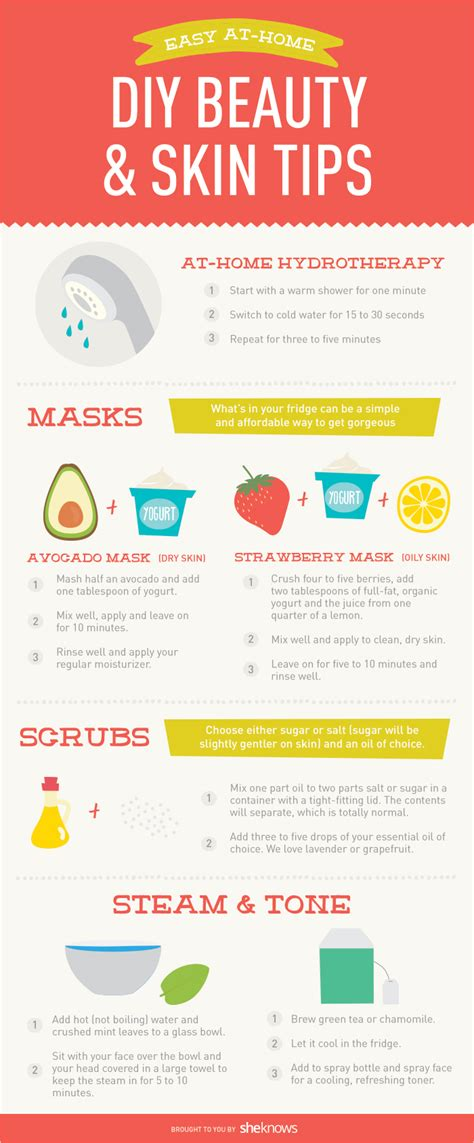 Care Tips 2 by At Home Skin Care Tips To Refresh Your Skin Infographic