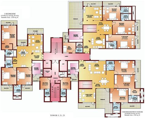five bedroom flat plan 3 bhk apartments in north delhi 4 bhk apartments in