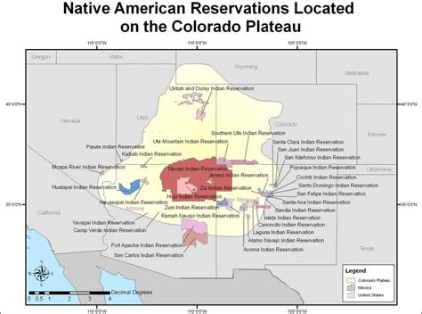 american tribes colorado map map of american reservations located on the