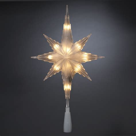 11 quot lighted bethlehem star christmas tree topper clear