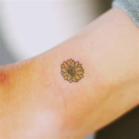 small sunflower tattoo designs small flower on the ankle artist seoeon