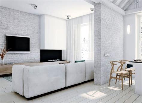 Modern loft with minimalist style in a white   Interior