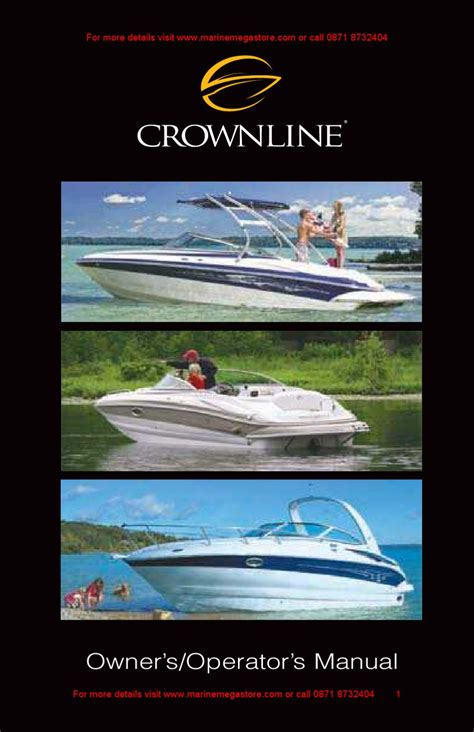 larson boats owners manual crownline owner s manual by marine mega store ltd issuu
