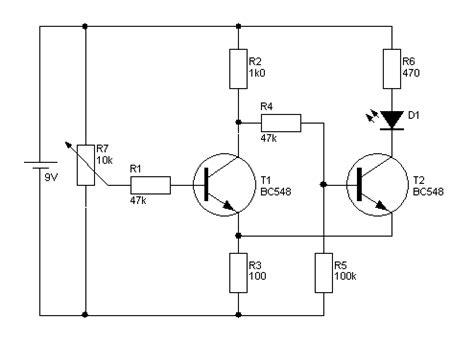 transistor bc547 funktion trigger berechenbar bis auf mv