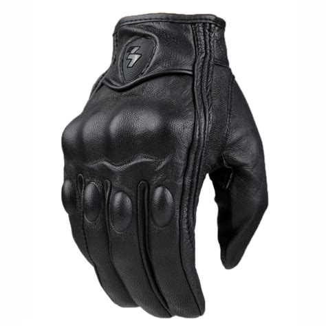 best motocross gloves top guantes fashion glove real leather full finger black