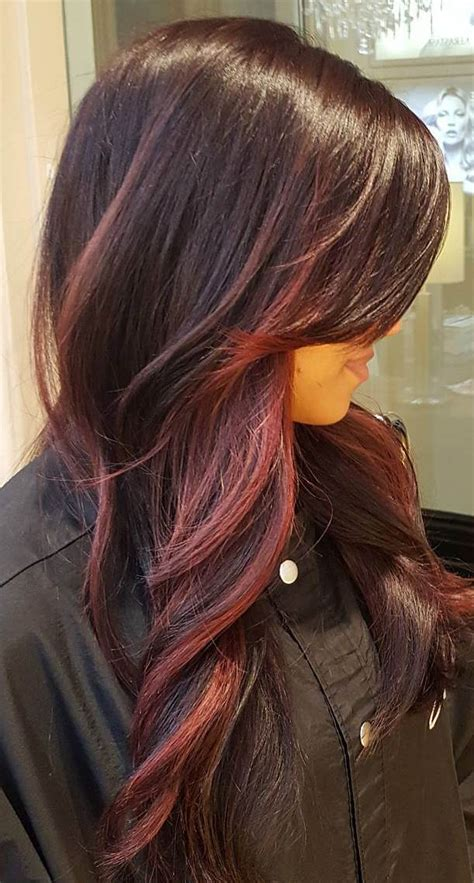 burgandy caramel and brown highlights 60 balayage hair color ideas with blonde brown caramel
