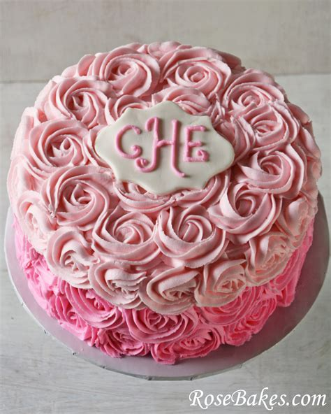 red roses pink ombre cake pink ombre roses birthday cake