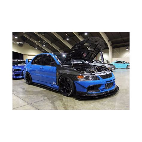 radical tuning evo  oem style carbon front fenders