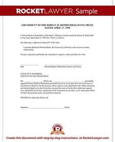 Living Certification Letter Living Trust Amendment Form Rocket Lawyer