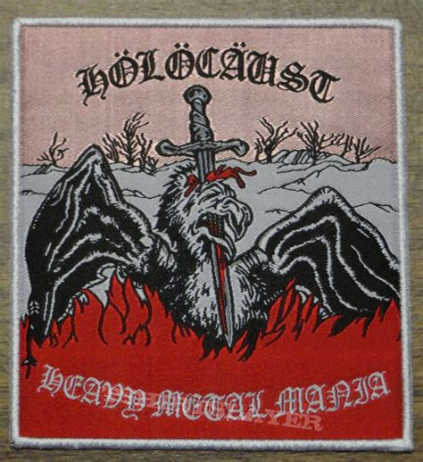 Aufnäher Patches Heavy Metal by Holocaust Heavy Metal Mania Woven Patch Tshirtslayer