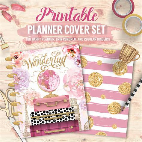 printable happy planner cover printable planner binder cover set floral