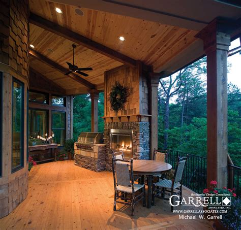 house plans with covered porch tranquility luxurious mountain house plan