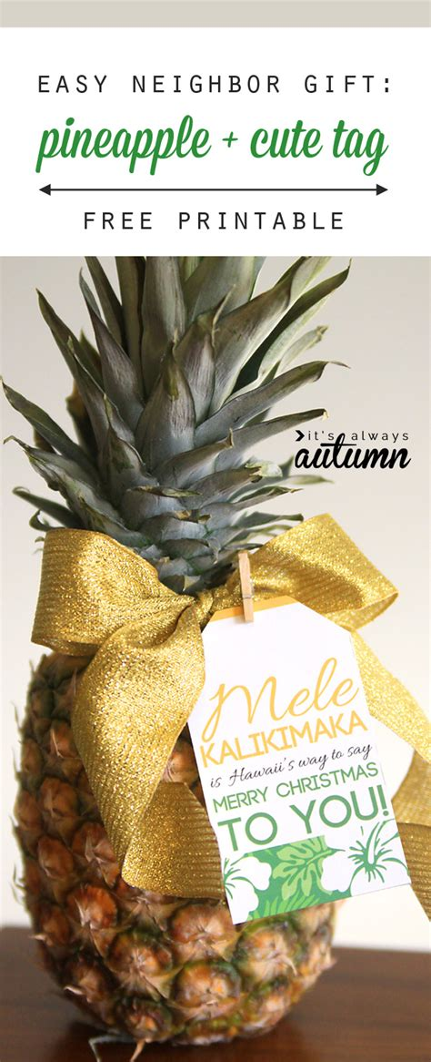 christmas gifts for work mates easy gift idea pineapple tag it s always autumn