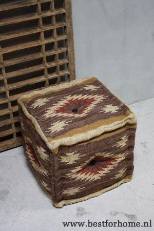 landelijke hocker originele kelim poefs landelijke hockers