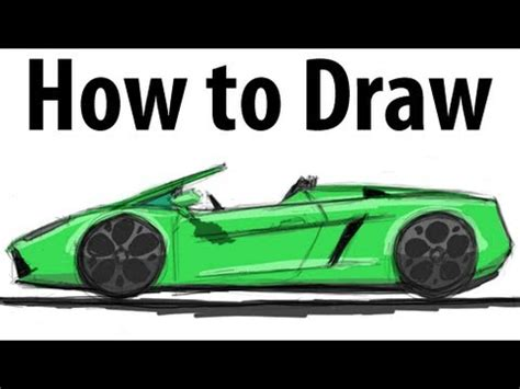 How To Work For Lamborghini How To Draw A Lamborghini Gallardo Spyder Sketch It